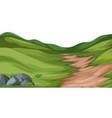 nature hill landscape vector image vector image