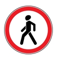 No Walking sign vector image vector image