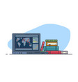 online pandemic monitoring vector image vector image