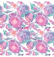 Paradise Tileable Texture with Floral Motif vector image