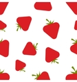 Pattern Silhouette Strawberries vector image vector image