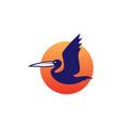 pelican gulf bird coast beach logo icon vector image vector image