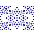 porcelain mandala pattern vector image vector image