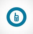 radio bold blue border circle icon vector image vector image