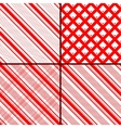 red oblique striped patterns vector image vector image