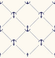 seamless geometric pattern with anchors and vector image vector image