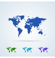 Set from Colorful World Map Icons vector image vector image