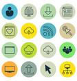 set of 16 internet icons includes send data vector image vector image