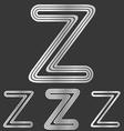 Silver line z logo design set vector image vector image