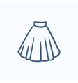 Skirt sketch icon vector image vector image