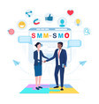 smm and smo concept vector image