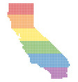 spectrum pixel lgbt california map vector image vector image