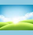 summer nature sunrise background a landscape vector image vector image