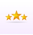 Three stars background vector image