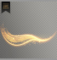 transparent wavy light effect background design vector image vector image