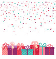 valentines day background background with gifts vector image vector image