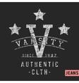 Varsity stars vintage stamp vector image vector image