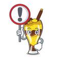 with sign mangonada fruit character cartoon vector image vector image