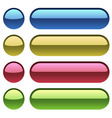 Color plastic buttons for web design vector image