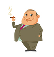 man smoking cigar vector image