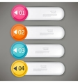 Set of colorful bookmarks stickers labels tags vector image
