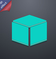 3d cube icon symbol 3D style Trendy modern design vector image vector image