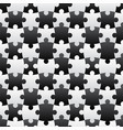 3d jigsaw tile seamless pattern blackampwhite 001 vector image vector image