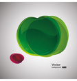 abstract apple background vector image vector image