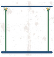 ancient egypt background empty frame with cane vector image vector image