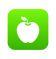 apple icon digital green vector image vector image