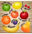 Aqurel Fruit Collection vector image vector image