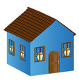 beautiful house with door window and roof vector image vector image