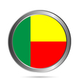 Benin flag button