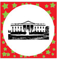 black 8-bit the white house vector image