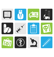 Black Medical and healthcare Icons vector image