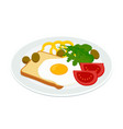 breakfast with egg vector image vector image