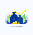 business growth concept vector image vector image