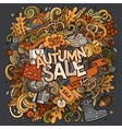 Cartoon cute doodles hand drawn Autumn sale vector image vector image