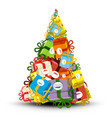 Christmas Tree Made from Gift Boxes vector image vector image