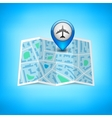 City map with label pin isolated vector image