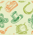 colorful st patricks day seamless pattern vector image