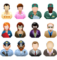Corporation people icon set vector image