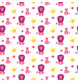 cute lion and lioness seamless pattern vector image vector image