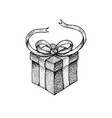 dotwork gift box vector image