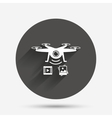 Drone icon Quadrocopter with video camera vector image