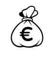 Euro Money Icon with Bag vector image vector image