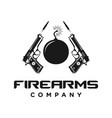 firearms logo vector image