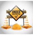 Flat about under construction design vector image vector image