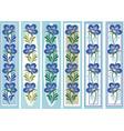 floral ornamental bookmark folk petrykiva style vector image vector image