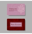 Floral pink business card collection vector image vector image